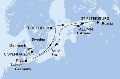 Paysages & histoire des capitales Baltes - CROISIÈRE AU DÉPART DE KIEL (ALLEMAGNE)