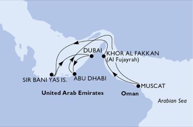 Naviguer dans les fjords du Sultanat - CROISIÈRE AU DÉPART DE DUBAÏ (ÉMIRATS ARABES UNIS)