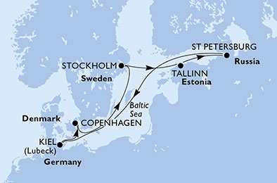 Paysages & histoire des capitales Baltes - CROISIÈRE AU DÉPART DE COPENHAGUE (DANEMARK)